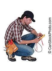 eletricista, multímetro
