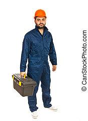 eletricista, trabalhador, homem