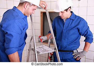 eletricistas, equipe