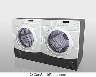 eletrodomésticos lar, arruela, e, drier.