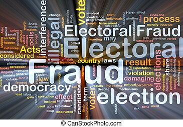 elettorale, ardendo, concetto, frode, fondo