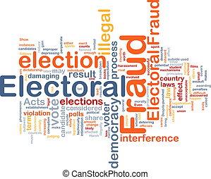 elettorale, concetto, frode, fondo
