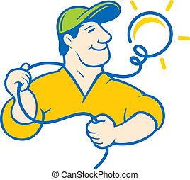 elettricista, corporativo, logotipo