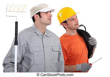 elettricista, e, decoratore