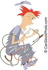 elettricista, illustrazione