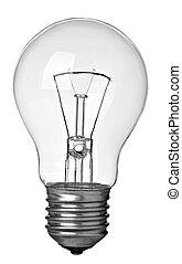 elettricità, bulbo, luce, idea