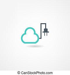 elettricità, icona