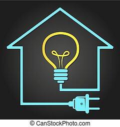 Elettricit casa simbolo elettricit luce simbolo - Elettricita in casa ...