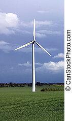 elettricità, turbina vento, energia, rinnovabile