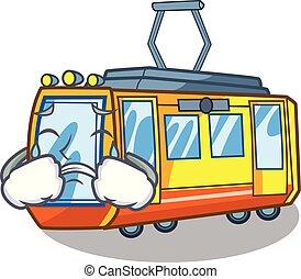 elettrico, forma, treno, pianto, giocattoli, mascotte