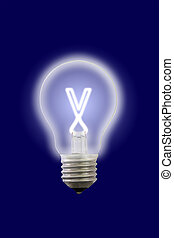 elettrico, lamp., interno, lettera, piccolo, splendore