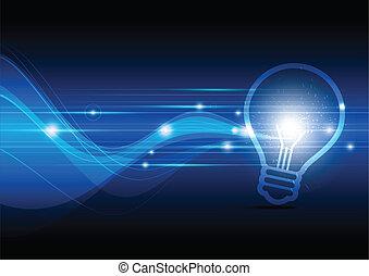 elettrico, scintillamento, lampada