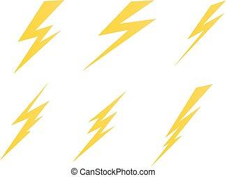 elettrico, simbolo, illustrazione, illuminazione, carica, ...