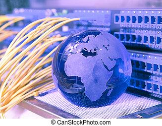 elettronico, circuito stampato, con, tecnologia, stile,...