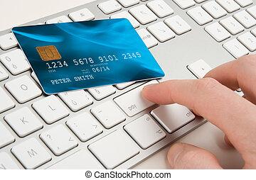elettronico, concetto, pagamento