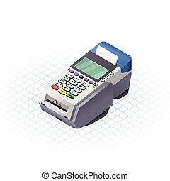 elettronico, isometrico, dati, cattura