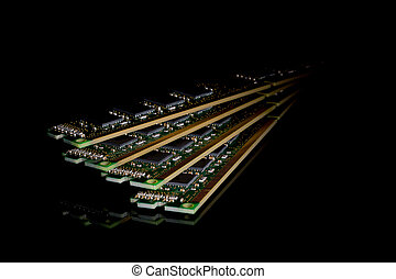 elettronico, modules, casuale, -, collezione, accesso,...