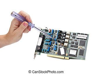 elettronico, scheda