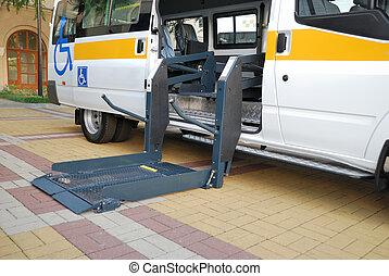 elevación del sillón de ruedas