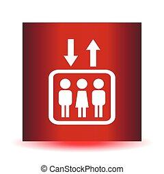 elevador, ícone