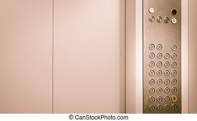 elevador, botões