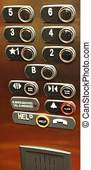 elevador, piso, buttons.