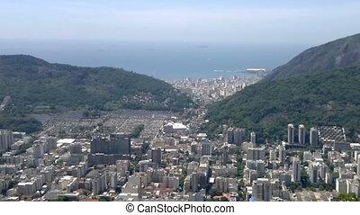 Elevated panoramic view of Rio de Janeiro, Brazil