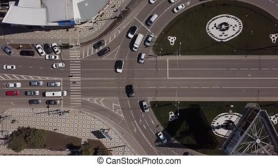 Elevated Road Junction And Interchange Overpass At Day...