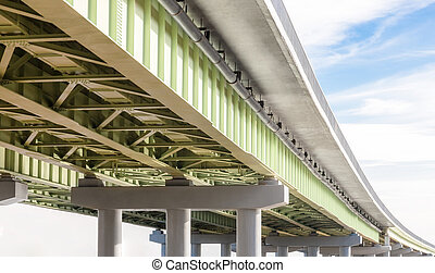 Elevated road on the sky