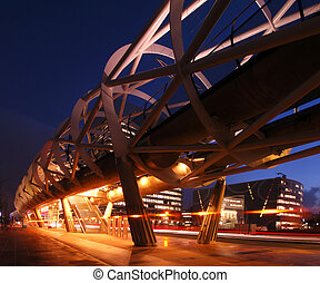 Elevated tram line - The modern looking, futuristic elevated...
