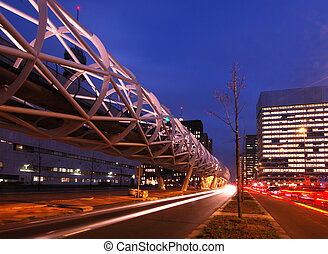 Elevated Tram structure - The modern looking, futuristic...