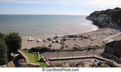 Elevated view Beer coast beach pan