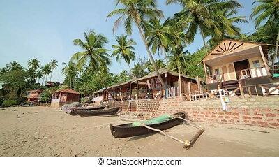 Elevated view idyllic holiday resort