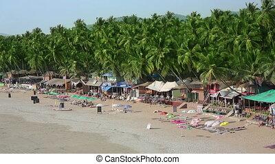 Elevated view of idyllic holiday resort