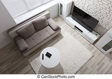 Elevated View Of Apartment