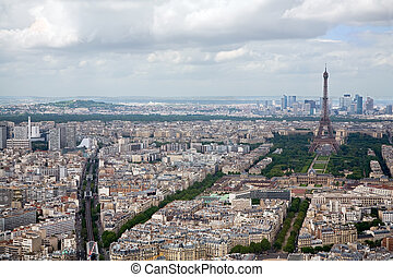 This is an elevated view of Paris, France