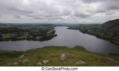 Elevated view Ullswater The Lakes - Elevated view of...