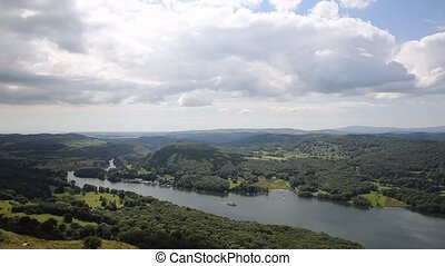Elevated view Windermere Lake PAN - Elevated view of...