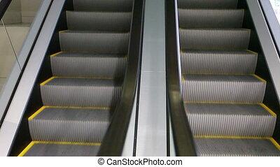 Elevates - Metal grey elevates in movement
