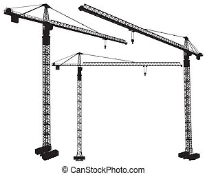 Elevating Construction Crane Vector