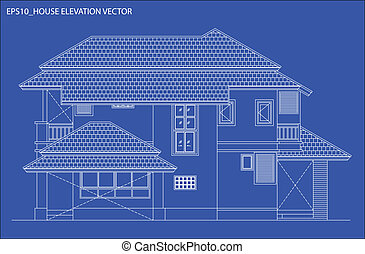 elevation house vector