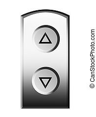 Elevator buttons - Up and down elevator buttons. Isolated...