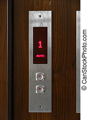 Elevator call buttons. selective focus, shallow depth of field