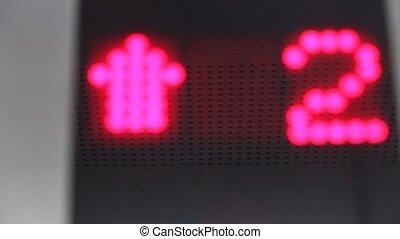 Elevator. Digital display