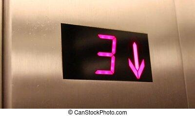 Elevator. Digital Display inside shopping mall - Elevator ...