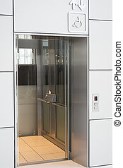 Elevator for handicap in modern building