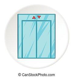 Elevator icon, cartoon style