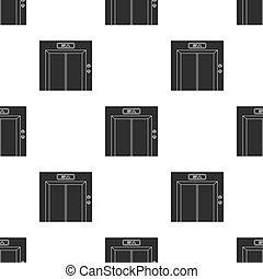 Elevator icon in black style isolated on white background. Hotel pattern stock vector illustration.