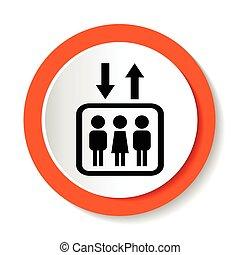 Elevator icon. Vector illustration