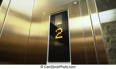 Elevator in a building